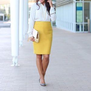 J. Crew Pencil Skirt | Mustard Yellow